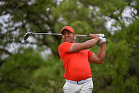 Jhonattan Vegas (VEN) watches his tee shot on 2 during day 4 of the Valero Texas Open, at the TPC San Antonio Oaks Course, San Antonio, Texas, USA. 4/7/2019.<br /> Picture: Golffile | Ken Murray<br /> <br /> <br /> All photo usage must carry mandatory copyright credit (© Golffile | Ken Murray)