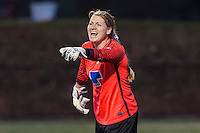 Allston, MA - Saturday, May 07, 2016: Boston Breakers goalkeeper Libby Stout (1) during a regular season National Women's Soccer League (NWSL) match at Jordan Field.
