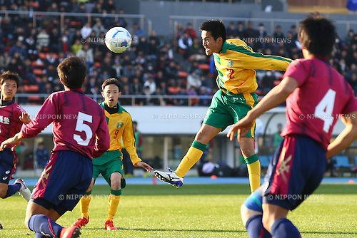 Takahiro Okura , JANUARY 5, 2016 - Football / Soccer : 94th All Japan High School Soccer Tournament quarterfinal match between Seiryo 3-0 Meitoku Gijuku at Komazawa Olympic Park Stadium, Tokyo, Japan. (Photo by Shingo Ito/AFLO SPORT)