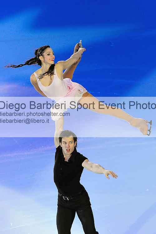 2012.01.01 Stefania Berton Ondrey Hotarek exhibit at Capodanno on Ice, ice figure skating gala at Palavela in Turin, Italy<br />