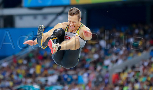 17.09.2016. Rio de Janeiro, Brazil. Markus Rehm of Germany competes in Men's Long Jump - T44 Final during the Rio 2016 Paralympic Games, Rio de Janeiro, Brazil, 17 September 2016.