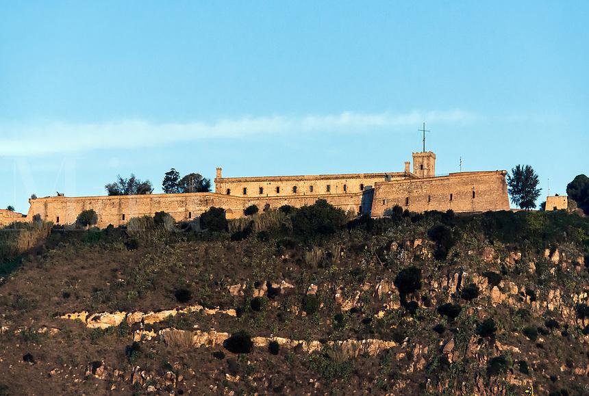 Montjuic Castle , Castillo de Montjuich, military fortress, Jewish Mountain, Barcelona, Spain