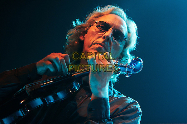 King Crimson Festival, KTU - Eddie Jobson.Concert in Moscow.September 3rd, 2008.on stage in concert live gig performance performing music half length black shirt violin glasses .CAP/PER/SB.©SB/PersonaStars/CapitalPictures