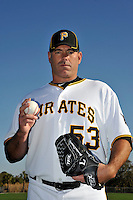 Feb 28, 2010; Bradenton, FL, USA; Pittsburgh Pirates  pitcher Brendon Donnelly (53) during  photoday at Pirate City. Mandatory Credit: Tomasso De Rosa/ Four Seam Images