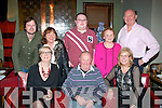 Derrick Tulley, Cois Abhainn, Tralee (seated centre) had a great night celebrating his 70th birthday in Gally's, Tralee last Saturday especially when some family members walked in unannounced from the UK to join the fun, seated l-r: Sharon O'Reilly, Derrick Tully and Carol Berryman. Back l-r: Paul Sully, Winnie Reynolds, Robert Tulley and Harry O'Reilly.