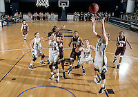Florida International University guard Zsofia Labady (3) plays against ULM. FIU won the game 65-55 on January 07, 2012 at Miami, Florida. .