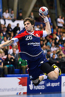 06 APR 2012 - LONDON, GBR - Great Britain's Gawain Vincent (GBR) shoots during the men's 2012 London Cup match against Tunisia at the National Sports Centre in Crystal Palace, Great Britain .(PHOTO (C) 2012 NIGEL FARROW)