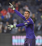 Toluca goalkeeper Alfredo Talavera during his team's CONCACAF Champions League game against Sporting KC on February 21, 2019 at Children's Mercy Park in Kansas City, KS.<br /> Tim VIZER/Agence France-Presse