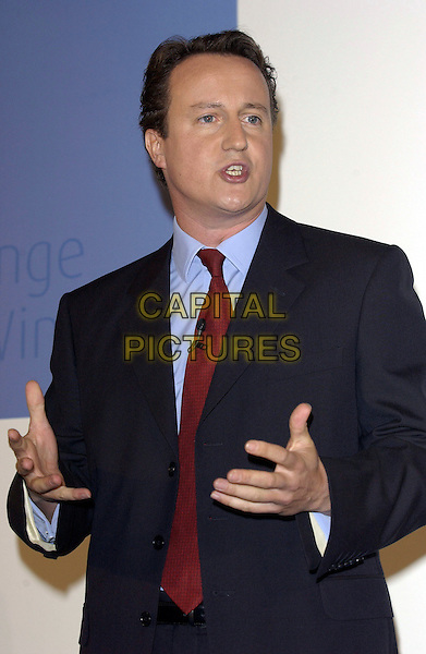 DAVID CAMERON .Launching his leadership campaign for the Conservative Party..September 29th, 2005.half length.www.capitalpictures.com.sales@capitalpictures.com.© Capital Pictures.