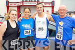 Hannah Hennessy (Castlegregory) with Siobhan and  Mark Cussen  (Ballyroe) and John O'Connor (Castlegregory) who took part in the Carers 10k run on Sunday.