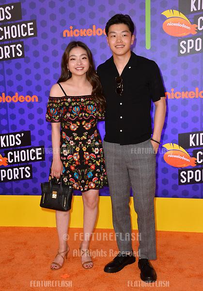Maia Shibutani & Alex Shibutani at the Nickelodeon Kids' Choice Sports Awards 2018 at Barker Hangar, Santa Monica, USA 19 July 2018<br /> Picture: Paul Smith/Featureflash/SilverHub 0208 004 5359 sales@silverhubmedia.com