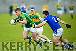 S Kerry's Denis Daly gets away from KOR's Tommy Begley Garvey SuperValu Senior County Football Championship Round 1 Kerins O'Rahillys V South Kerry at Strand Rd on Sunday