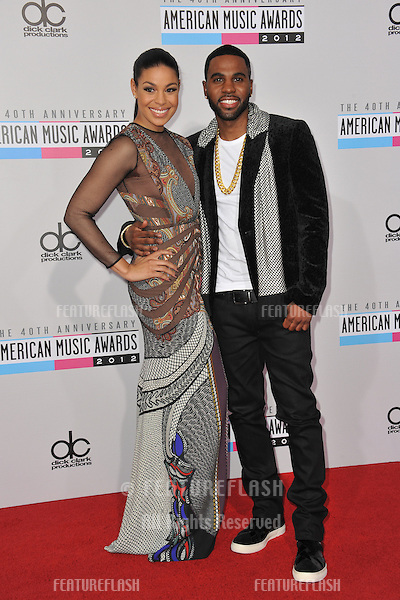 Jordin Sparks & Jason Durulo at the 40th Anniversary American Music Awards at the Nokia Theatre LA Live..November 18, 2012  Los Angeles, CA.Picture: Paul Smith / Featureflash