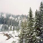 Snowy landscape in the Italian Alps