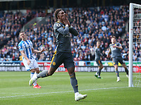 Leicester City's Demarai Gray reacts to missing a chance on goal <br /> <br /> Photographer Stephen White/CameraSport<br /> <br /> The Premier League - Huddersfield Town v Leicester City - Saturday 6th April 2019 - John Smith's Stadium - Huddersfield<br /> <br /> World Copyright © 2019 CameraSport. All rights reserved. 43 Linden Ave. Countesthorpe. Leicester. England. LE8 5PG - Tel: +44 (0) 116 277 4147 - admin@camerasport.com - www.camerasport.com
