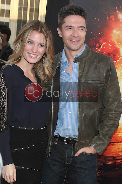 """Ashley Hinshaw, Topher Grace<br /> at the """"American Ultra"""" Los Angeles Premiere, Ace Hotel, Los Angeles, CA 08-18-15<br /> David Edwards/Dailyceleb.com 818-249-4998"""