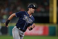 HOUSTON, TX - AUGUST 26:  Evan Longoria #3 of the Tampa Bay Rays runs the bases against the Houston Astros during the game at Minute Maid Park on Friday, August 26, 2016 in Houston, Texas. Photo by Brad Mangin