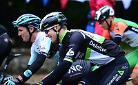 Picture by Simon Wilkinson/SWpix.com 05/09/2017 - Cycling OVO Energy Tour of Britain - Stage 3 Normanby Hall to Scunthorpe - the start at Normanby Hall, Lincolnshire<br /> Scott Thwaites and Pete Williams