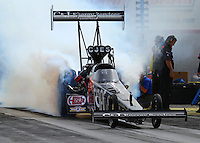 Apr 10, 2015; Las Vegas, NV, USA; NHRA top fuel driver Larry Dixon during qualifying for the Summitracing.com Nationals at The Strip at Las Vegas Motor Speedway. Mandatory Credit: Mark J. Rebilas-