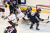Tori Sullivan (BC - 9), Andie Anastos (BC - 23), Elaine Chuli (UConn - 29), Jessica Stott (UConn - 9) - The Boston College Eagles defeated the visiting UConn Huskies 4-0 on Friday, October 30, 2015, at Kelley Rink in Conte Forum in Chestnut Hill, Massachusetts.