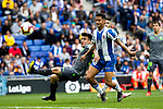Real Sociedad's Igor Zubeldia and RCD Espanyol's Roberto Rosales  during La Liga match. May, 18th,2019. (ALTERPHOTOS/Alconada)