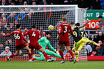 Danny Ings of Southampton shoots at goal during the Premier League match at Anfield, Liverpool. Picture date: 1st February 2020. Picture credit should read: James Wilson/Sportimage
