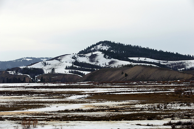 Valley Creek near Stanley, Idaho in the winter