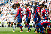 9th September 2017, Santiago Bernabeu, Madrid, Spain; La Liga football, Real Madrid versus Levante; Marcelo Viera da Silva Real Madrid receives a red card