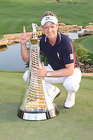 Luke Donald (ENG) winner of the race to Dubai on the final day of the DUBAI WORLD CHAMPIONSHIP presented by DP World, Jumeirah Golf Estates, Dubai, United Arab Emirates.Picture Denise Cleary www.golffile.ie
