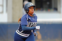11 February 2012:  FIU's Ashley McClain (2) runs to first as the University of Louisville Cardinals defeated the FIU Golden Panthers, 4-2, as part of the COMBAT Classic at the FIU Softball Complex in Miami, Florida.