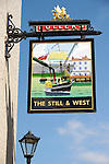 Still and West pub sign in Old Portsmouth, Hampshire, England