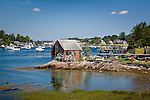 A lobster shack on Mackerel Cove on Bailey Island, the Harpswells, ME, USA