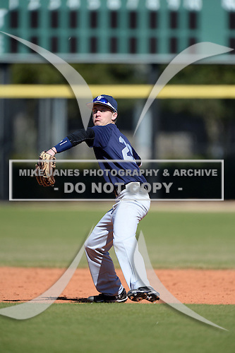 Keith Lowery (29) of Lanett, Alabama participates in the Baseball Factory All-America Pre-Season Rookie Tournament, powered by Under Armour, at Lake Myrtle Sports Complex on January 18, 2014 in Auburndale, Florida.  (Copyright Mike Janes Photography)