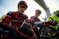 Paris-Roubaix 2012 ..Taylor Phinney under the start arch