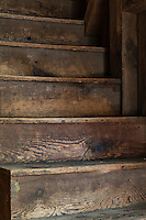 Old wooden stairs.