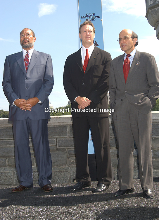 Richard Parsons, Jon Miller and Joel Klein                         .at the announcement of a concert by Dave Matthews Band on September 12,2003 in Central Park. Photo by Robin Platzer, Twin Images. The concert will be on Seotember 24, 2003