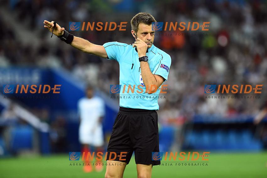 Nicola Rizzoli Arbitro Referee <br /> Marseille 11-06-2016 Stade Velodrome football Euro2016 England - Russia  / Inghilterra - Russia Group Stage Group B. Foto Massimo Insabato / Insidefoto