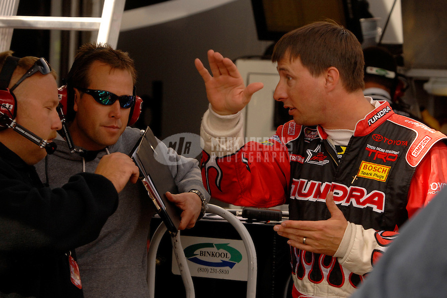 Nov 3, 2006; Fort Worth, TX, USA; Nascar Craftsman Truck Series driver David Reutimann (17) during the Silverado 350 at Texas Motor Speedway. Mandatory Credit: Mark J. Rebilas
