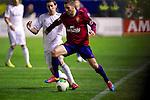 MADRID. ESPAÑA. FÚTBOL.<br /> Football match during La Copa del Rey (Spain);  04/01/2014.<br /> En la imagen :<br /> 16Alvaro Cejudo (CA Osasuna)<br /> 22Angel di Maria (Real Madrid)