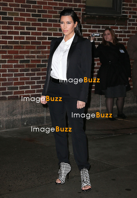 "Kim Kardashian arriving at the ""Late Show with David Letterman"" in New York City. New York, January 16, 2013...."