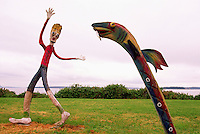 Whimsical Art on Display, Vancouver Island, BC, British Columbia, Canada