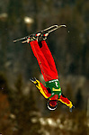 16 January 2005 - Lake Placid, New York, USA - Nina Li representing China, competes in the FIS World Cup Ladies' Aerial acrobatic competition, ranking first for the day, taking the Gold Medal at the MacKenzie-Intervale Ski Jumping Complex, in Lake Placid, NY. ..Mandatory Credit: Ed Wolfstein Photo.