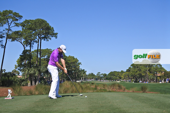 Padraic Harrington (IRL) on the 2nd during round 2 of the Honda Classic, PGA National, Palm Beach Gardens, West Palm Beach, Florida, USA. 26/02/2016.<br /> Picture: Golffile   Fran Caffrey<br /> <br /> <br /> All photo usage must carry mandatory copyright credit (&copy; Golffile   Fran Caffrey)