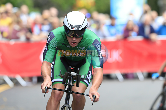 Ryan Mullen (IRL) in action during the Men Elite Individual Time Trial of the UCI World Championships 2019 running 54km from Northallerton to Harrogate, England. 25th September 2019.<br /> Picture: Eoin Clarke | Cyclefile<br /> <br /> All photos usage must carry mandatory copyright credit (© Cyclefile | Eoin Clarke)
