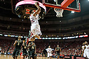 February 23, 2014: Walter Pitchford (35) of the Nebraska Cornhuskers with the alley-oop dunk against the Purdue Boilermakers during the second half at the Pinnacle Bank Arena, Lincoln, NE. Nebraska 76 Purdue 57.