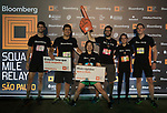 Runners compete at the Bloomberg Square Mile Relay race at Parque do Povo on 23 August 2018 in São Paulo, Brazil. Photo by  / Power Sport Images