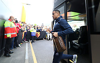 Martin Olsson of Swansea City arrives at Vicarage Road Stadium prior to kick off of the Premier League match between Watford and Swansea City at Vicarage Road Stadium, Watford, England, UK. Saturday 15 April 2017