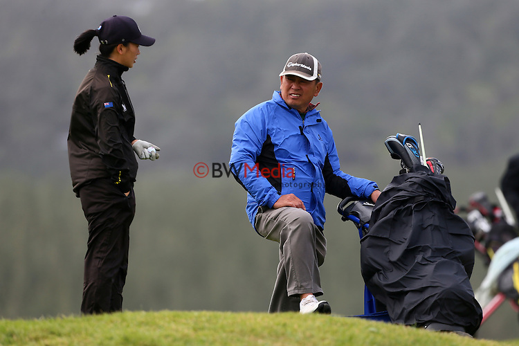 Munchin Keh during the Autex Muriwai Open, Round One, Charles Tour, Muriwai Golf Course, Auckland, New Zealand. Thursday 30 April 2015. Photo: Simon Watts/www.bwmedia.co.nz <br /> All images &copy; NZ Golf and BWMedia.co.nz New Zealand Golf Images:<br />