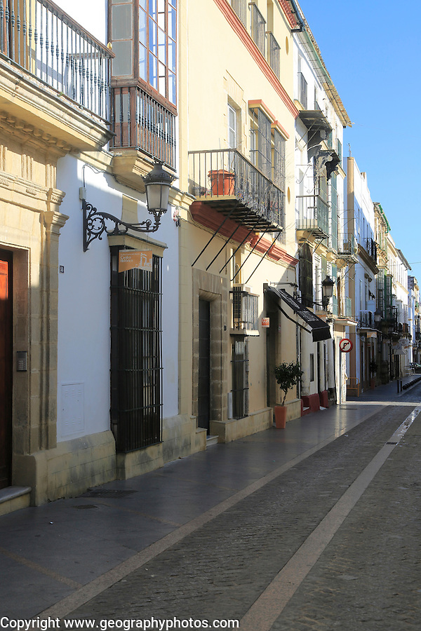Housing street in Puerto de Santa Maria, Cadiz province, Spain