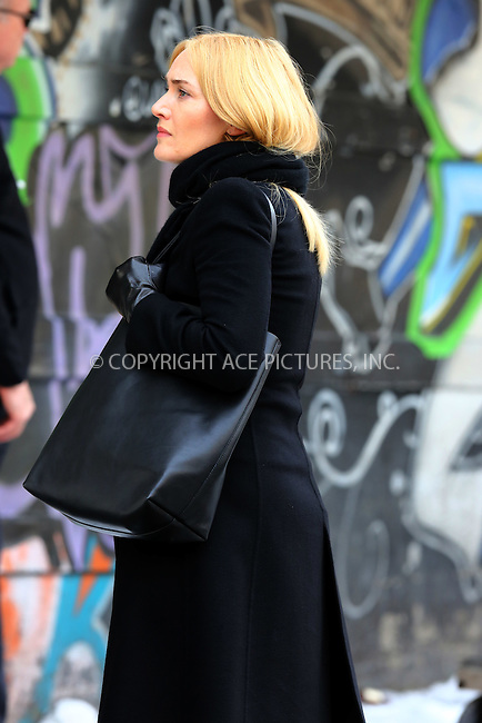 WWW.ACEPIXS.COM<br /> <br /> March 16 2016, New York City<br /> <br /> Actress Kate Winslet was on the set of the new movie 'Collateral Beauty' on March 16 2016 in New York City<br /> <br /> <br /> By Line: Philip Vaughan/ACE Pictures<br /> <br /> ACE Pictures, Inc.<br /> tel: 646 769 0430<br /> Email: info@acepixs.com<br /> www.acepixs.com